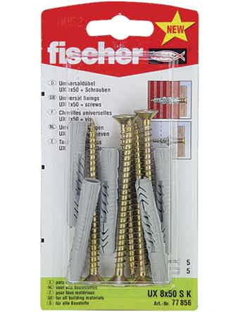 Allroundplugg Fischer Ux 8X50Sk 90519