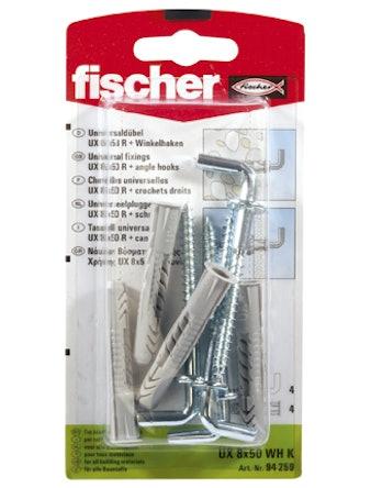 Krok Fischer Vinkel F U8 Hk 94635 4-Pack
