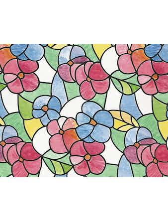 Пленка самоклеящаяся D-C-FIX 3460117 витраж цветной цветы 0,45х2м