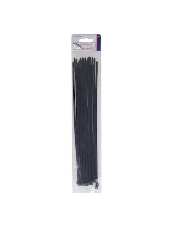 Хомут кабельный 300х4,8мм 25шт черные