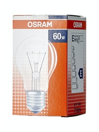Лампа накаливания Osram стандарт, 60 Вт х E27, прозрачная