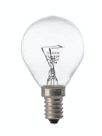 Лампа накаливания Osram шар, 60 Вт х E14, прозрачная