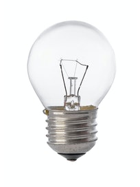 Лампа накаливания Osram шар, 40 Вт х E27, прозрачная