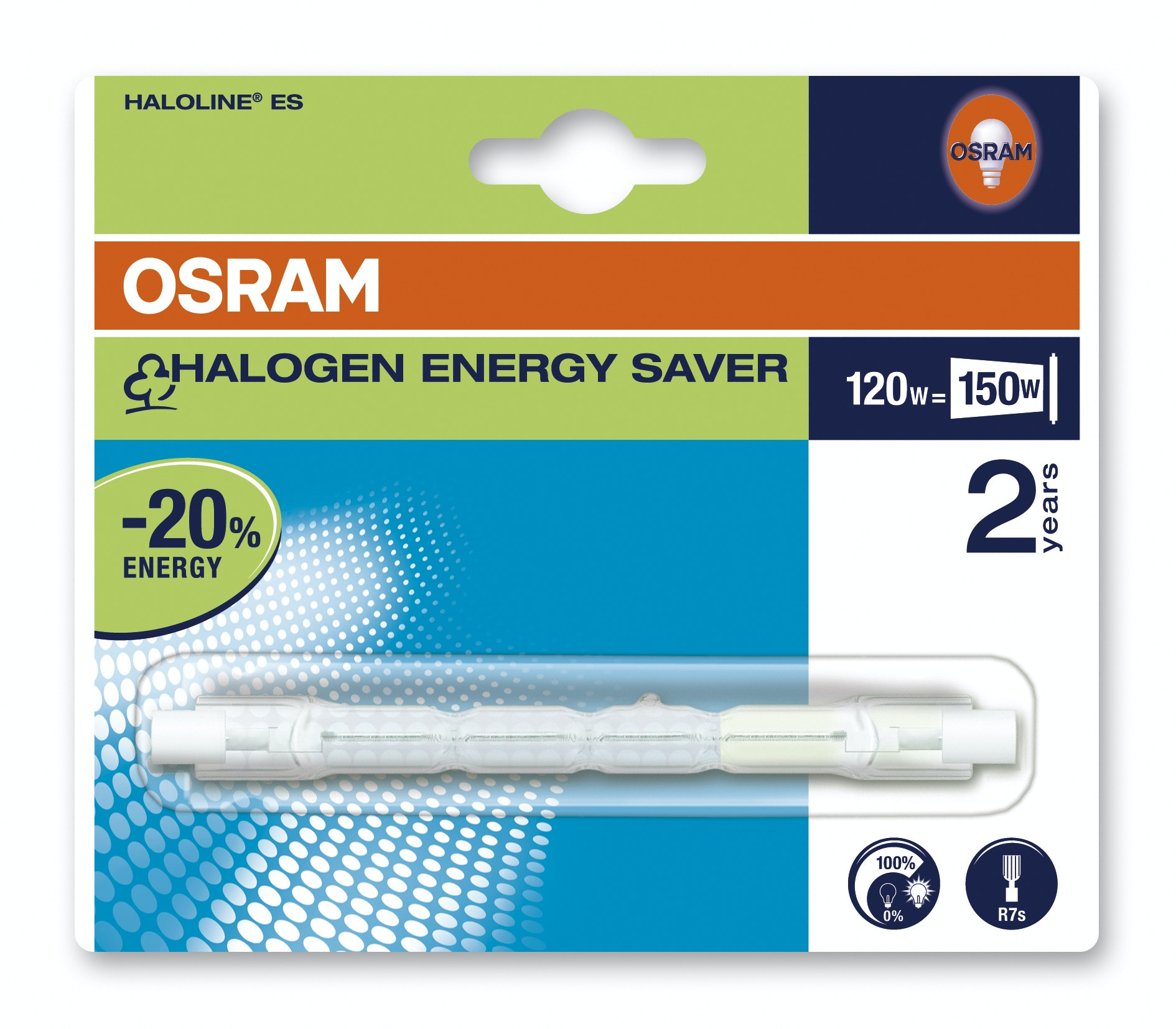 Halogenrör Osram R7S 120W Dimbar