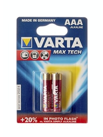 Батарейка Varta Max Tech AAA, 2 шт.