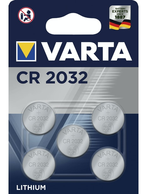NAPPIPARISTO VARTA CR 2032 LITIUM 5KPL
