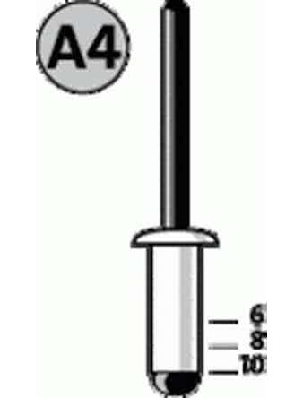 Заклепки потайные NOVUS А4х8 мм 30 шт
