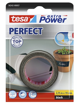Vävtejp Tesa Ex Power Perfect Svrt 2,75cmX19m