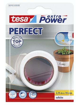 Vävtejp Tesa Ex Power Perfect Vit 2,75cmX19m