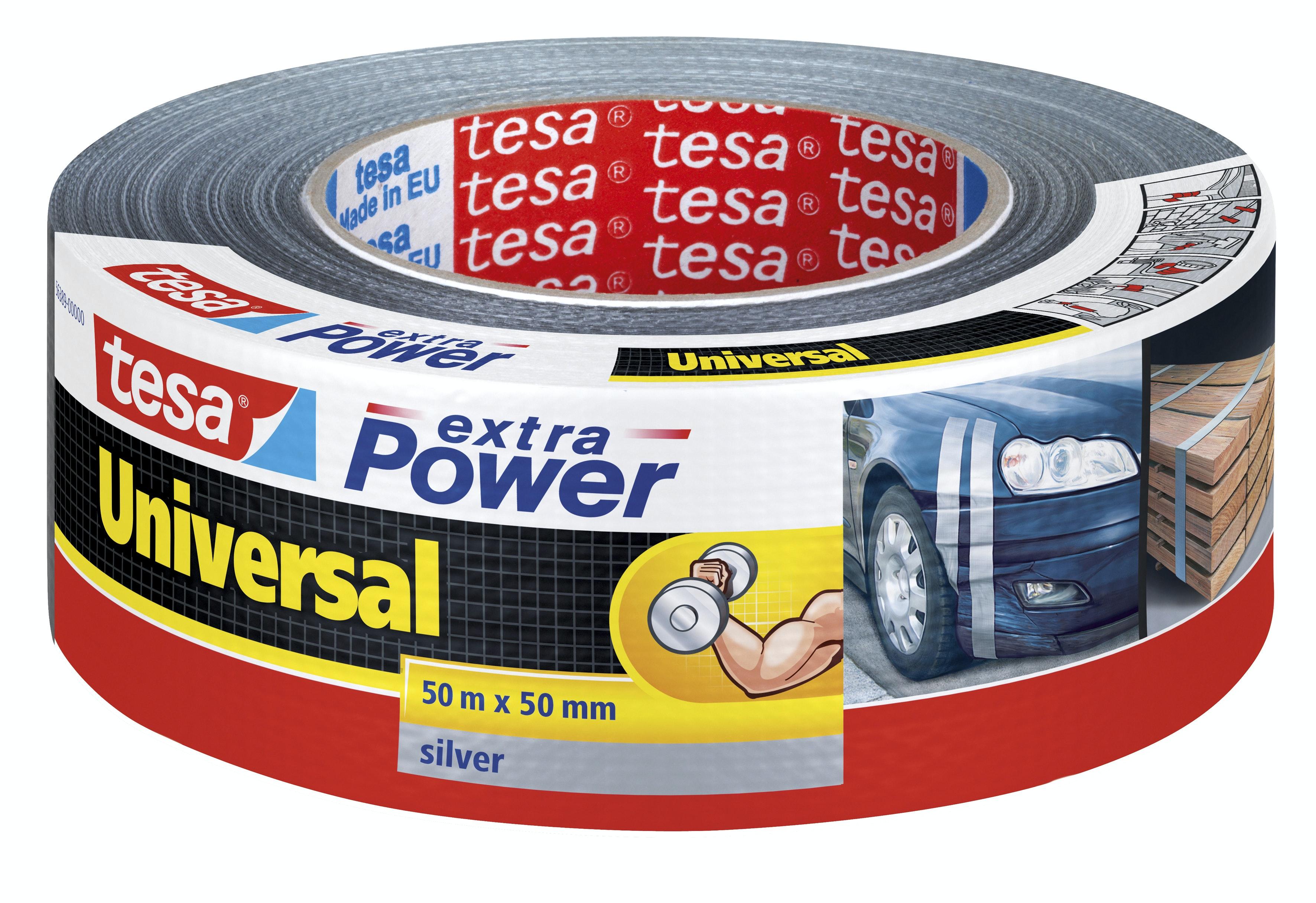 Vävtejp Tesa Extra Power Universal Silver 50mmx50m