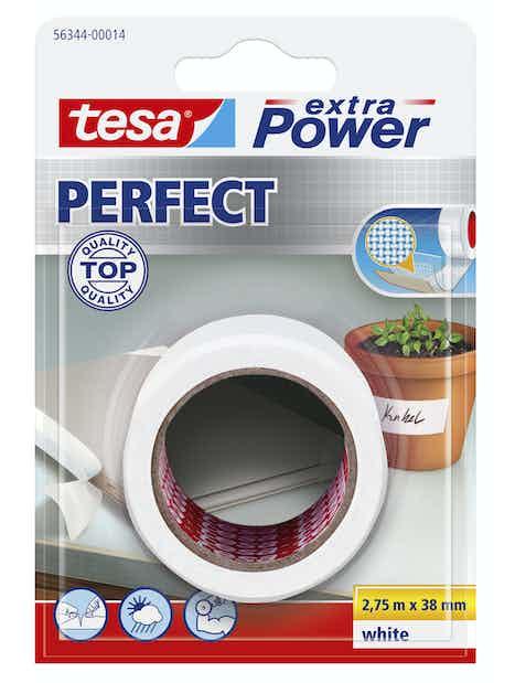 KANGASTEIPPI TESA 56343 38MMX2,75M VALKOINEN EX POWER