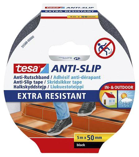 Halkskyddstejp Tesa Anti-Slip Extra Resistant Svart 50mmx5m
