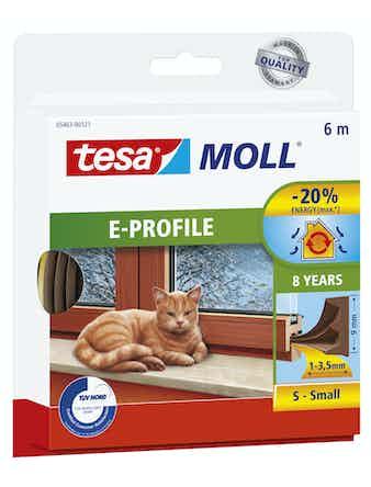 Tätningslist Tesa E-List 4mmX9mmX6m Brun