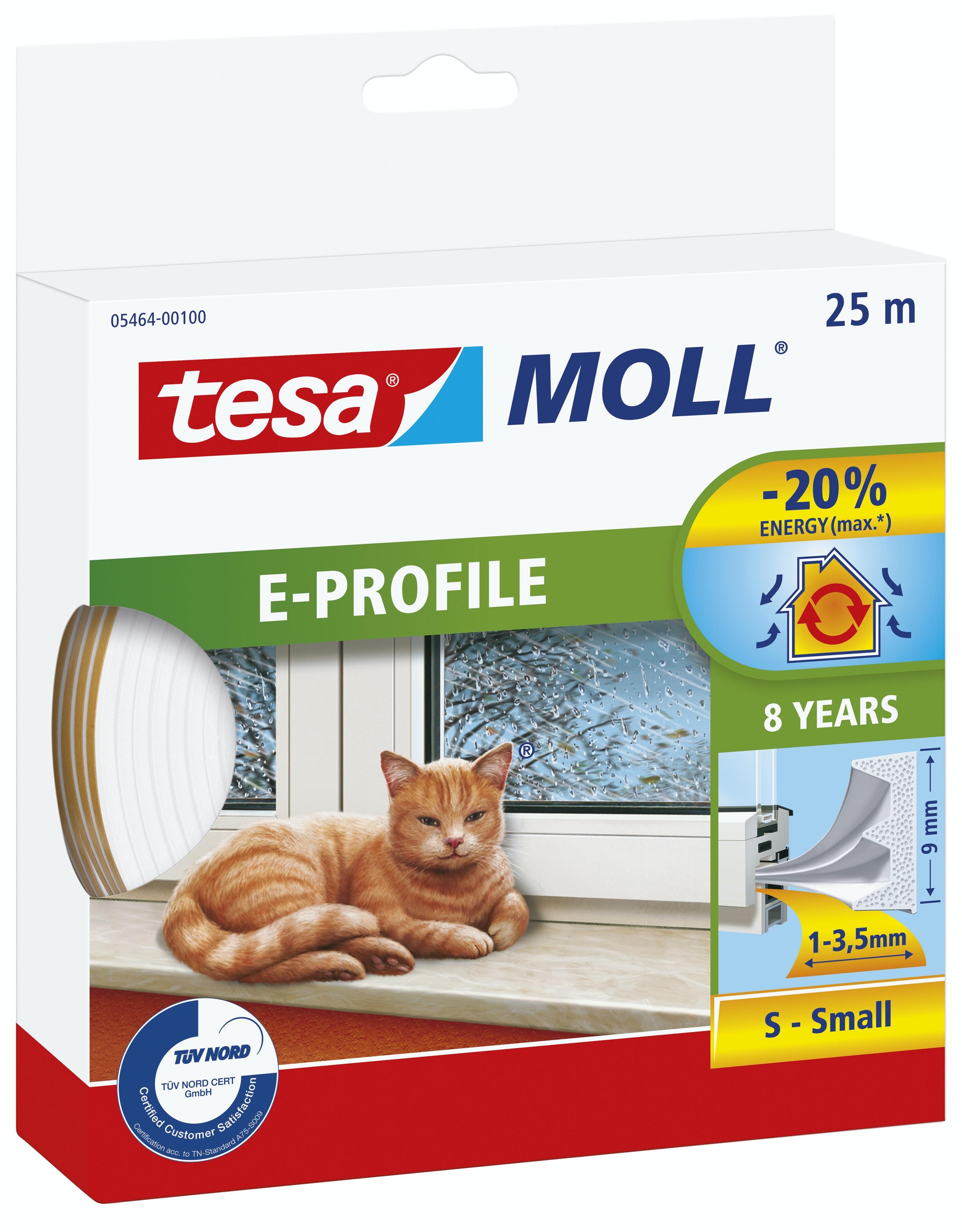 Tätningslist Tesa E-List 4mmX9mmX25 Vit