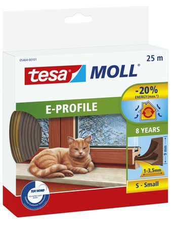 Tätningslist Tesa E-List 4mmX9mmX25 Brun