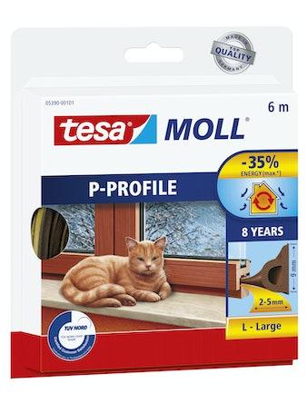 Tätningslist Tesa P-List 5,5mmX9mmX6m Brun