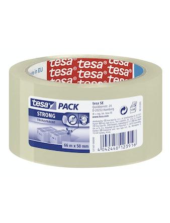 Packtejp Tesa Stark Etikett Transparant 50mmX66m