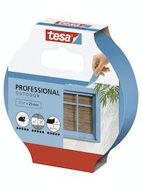 Лента малярная для ровных краев для наружных работ синяя 25м х 25мм Tesa