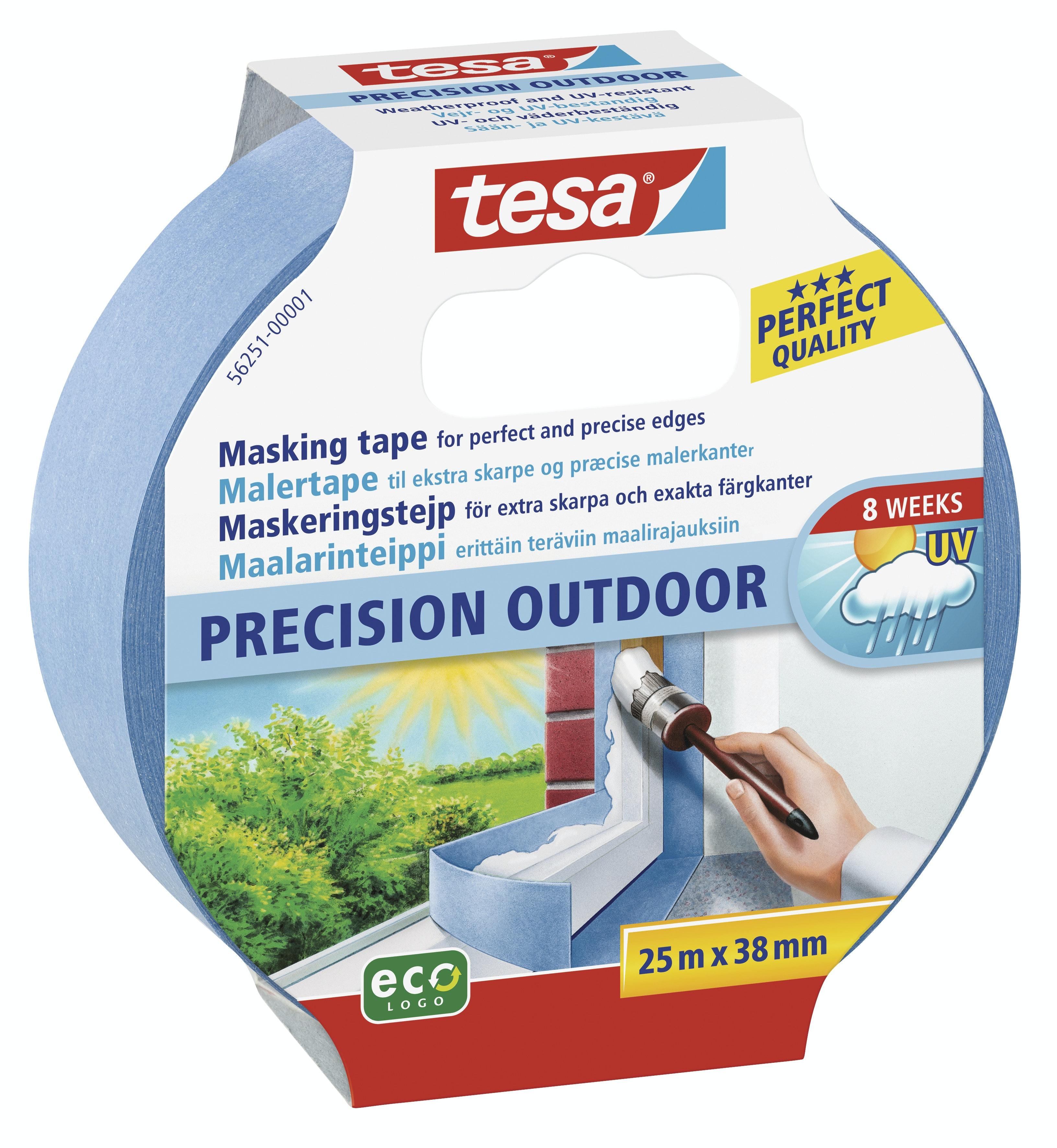 Maskeringstejp Tesa Precision Outdoor Blå 38mmx25m