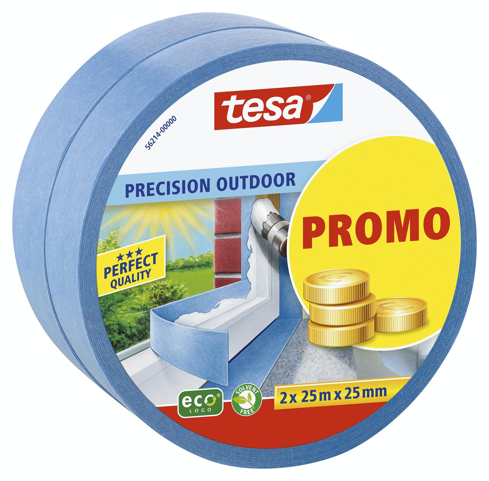 Maskeringstejp Tesa Precision Outdoor Promo 2-Pack 2x25mmx25m