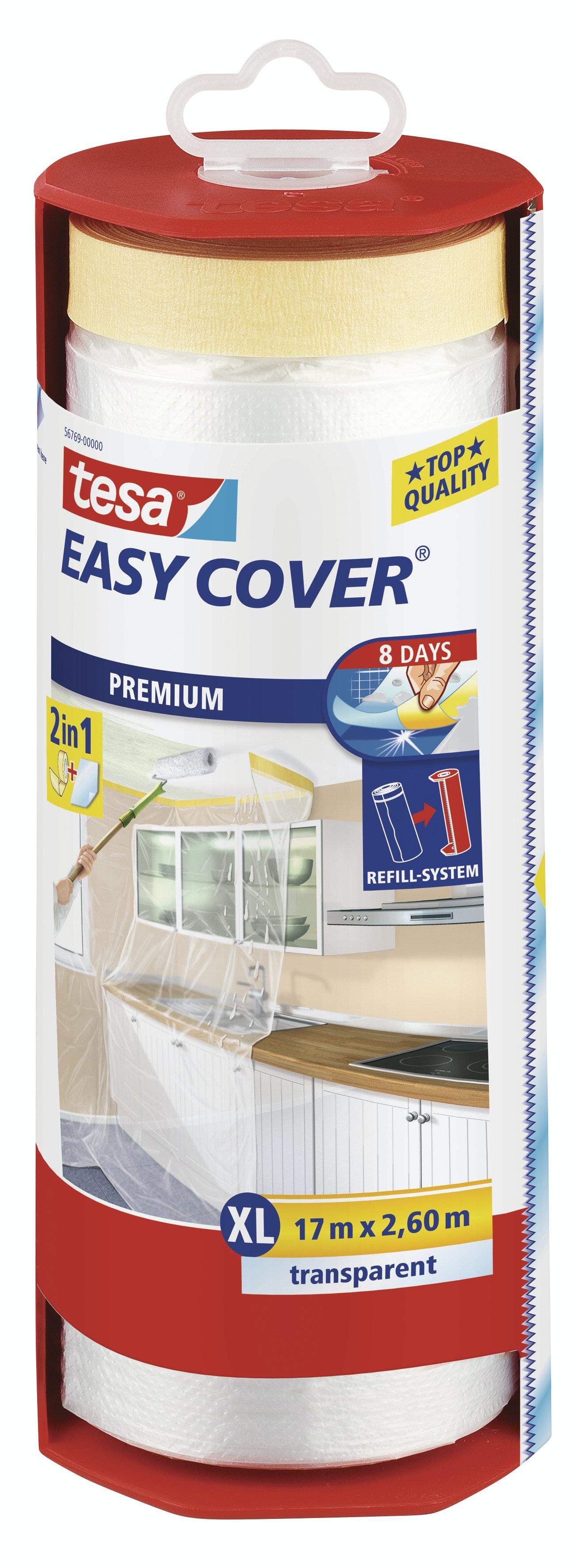 Plastfolie Tesa Easy Cover Premium Transparent 2600mmx17m