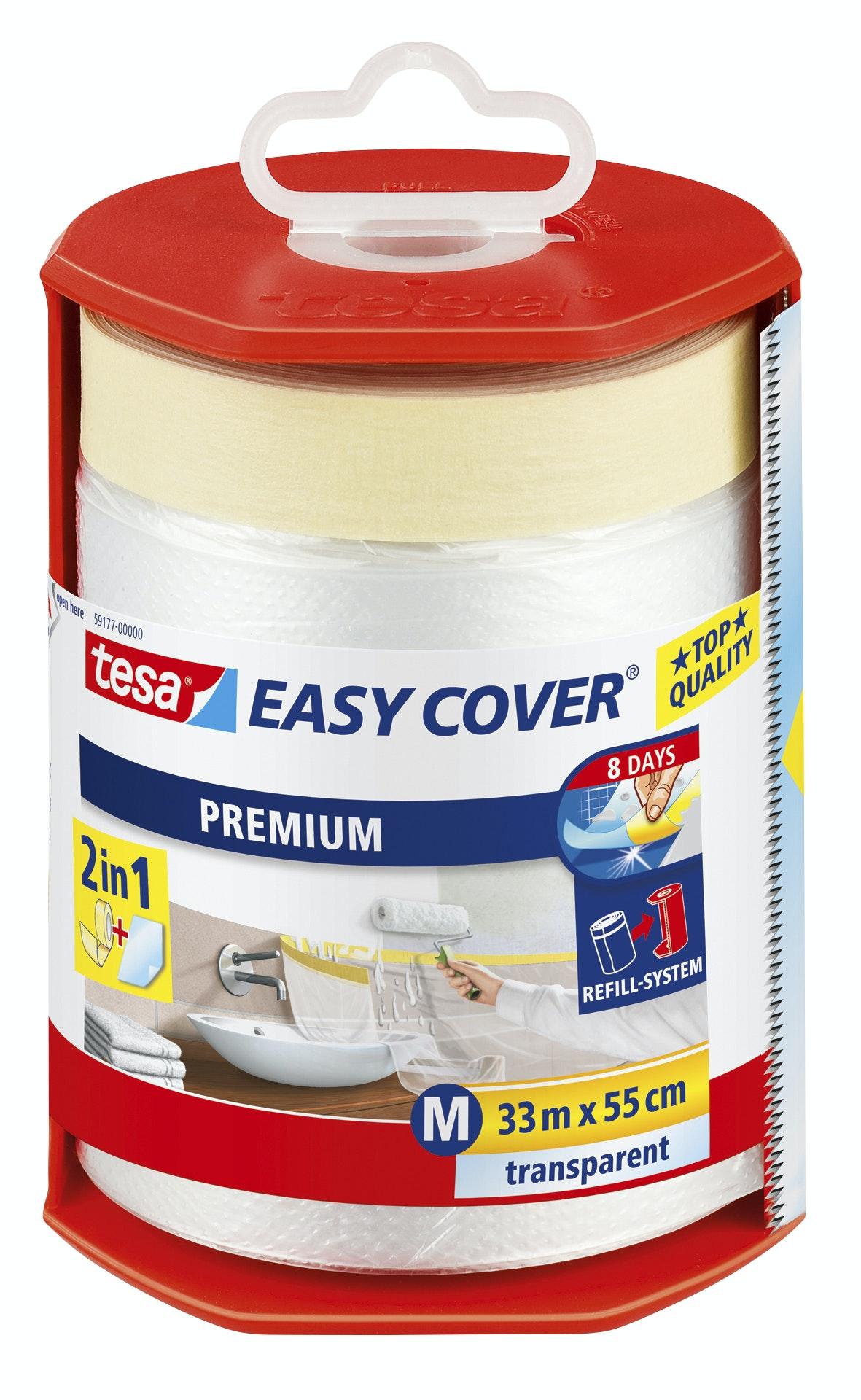 Plastfolie Tesa Easy Cover Premium Transparent 550mmx33m