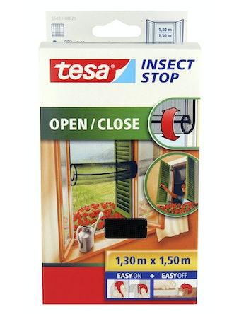 Insektsnät Tesa För Fönster Öppna/Stänga svart