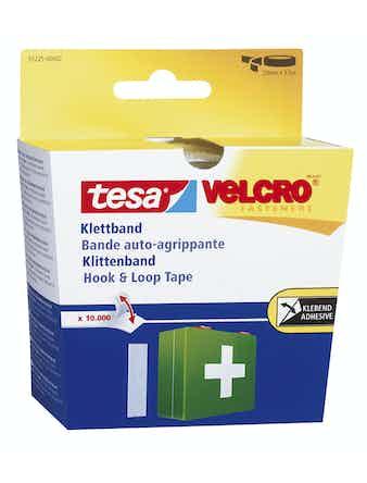 Kardborrband Tesa Velcro Svart 2,5m