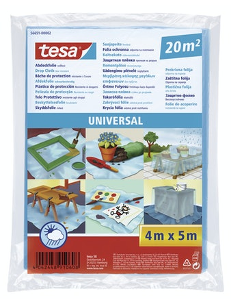 Skyddsfolie Tesa Universal 20m² 4X5M