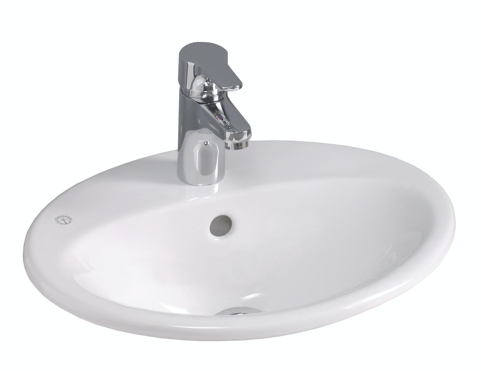Tvättställ Gustavsberg 5545 Nautic Vit