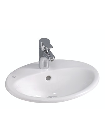 Tvättställ Gustavsberg 5545 C+ Nautic Vit Bräddavlopp