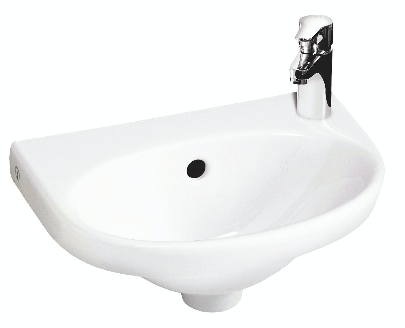 Tvättställ Gustavsberg 5540 C+ Nautic Vit Vänster