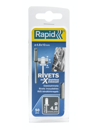 Nitar Rapid X Stainless 4,8X10mm 50-Pack