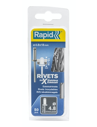 Nitar Rapid X Stainless 4,8X18mm 50-Pack