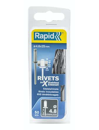 Nitar Rapid X Stainless 4,8X25mm 50-Pack