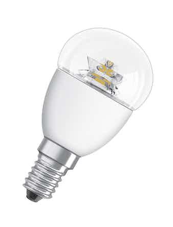 Лампа LED OSRAM шар 6W,470lm E14,прозр