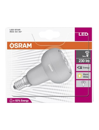 Лампа LED OSRAM R50 4030 3,9W 2700k E14