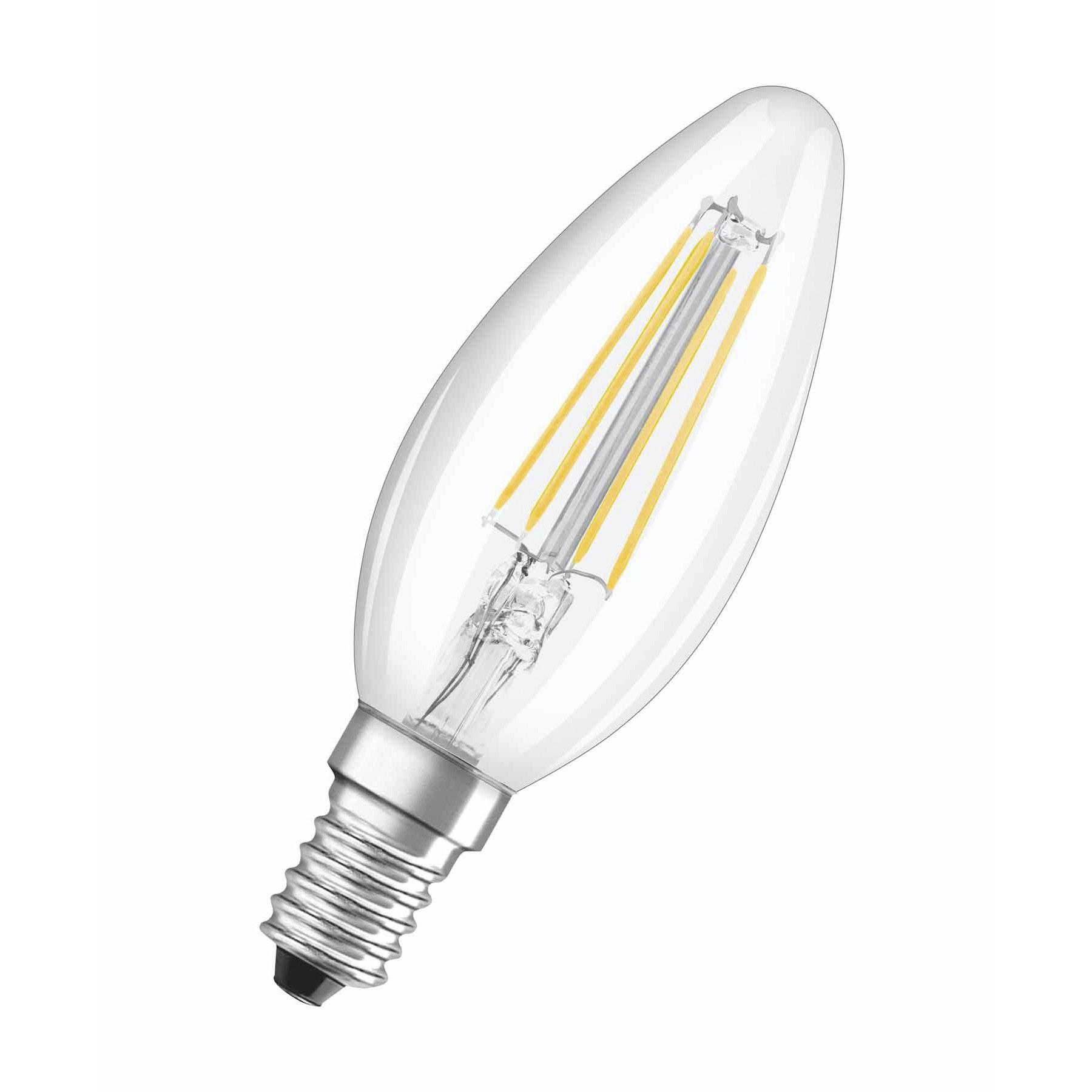 LED-Lampa Osram Retrofit E14 Filament 4W Kron Klar