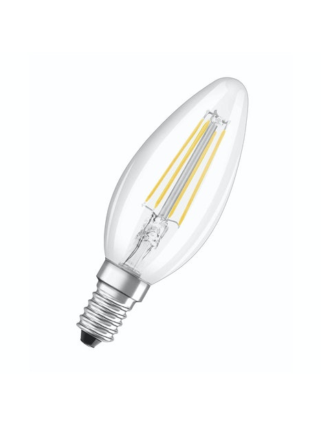 LED-KYNTTILÄLAMPPU OSRAM RETROFIT B37 430LM 827 E14 FIL
