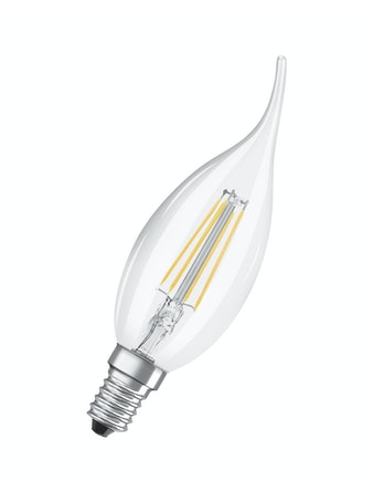 Led-lampa Osram Retrofit Filament CLBA40 Kron Böjd E14 4W