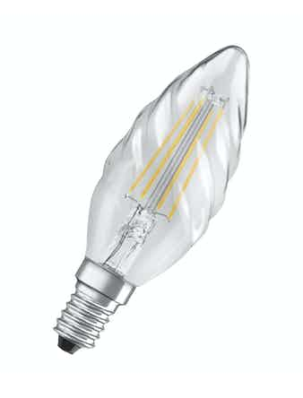 Led-lampa Osram Retrofit Filam CLBW40 Kron Vriden E14 4W