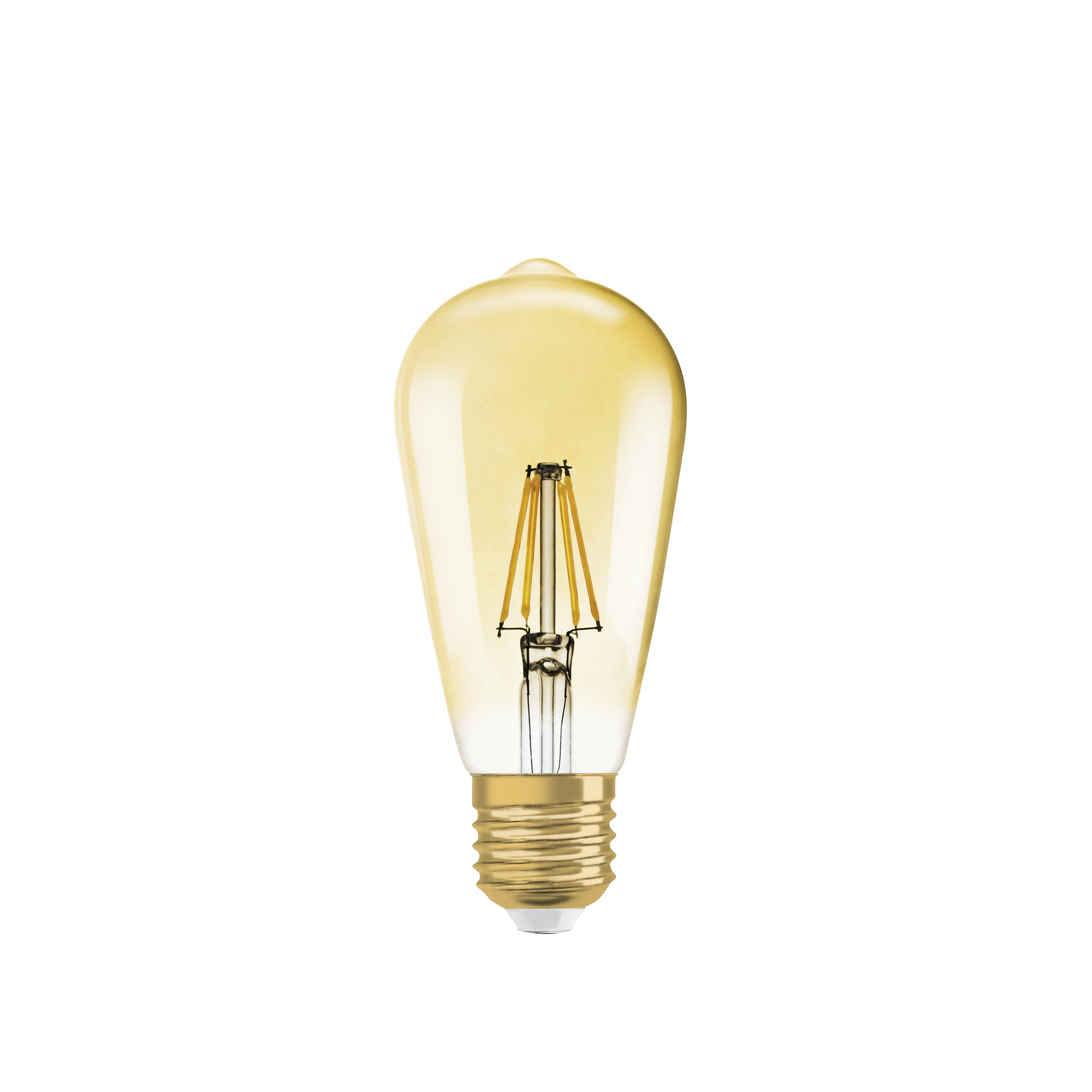 Led-lampa Osram Vintage 1906 Edison 54 710LM/827 E27 Filament Guld Dimbar