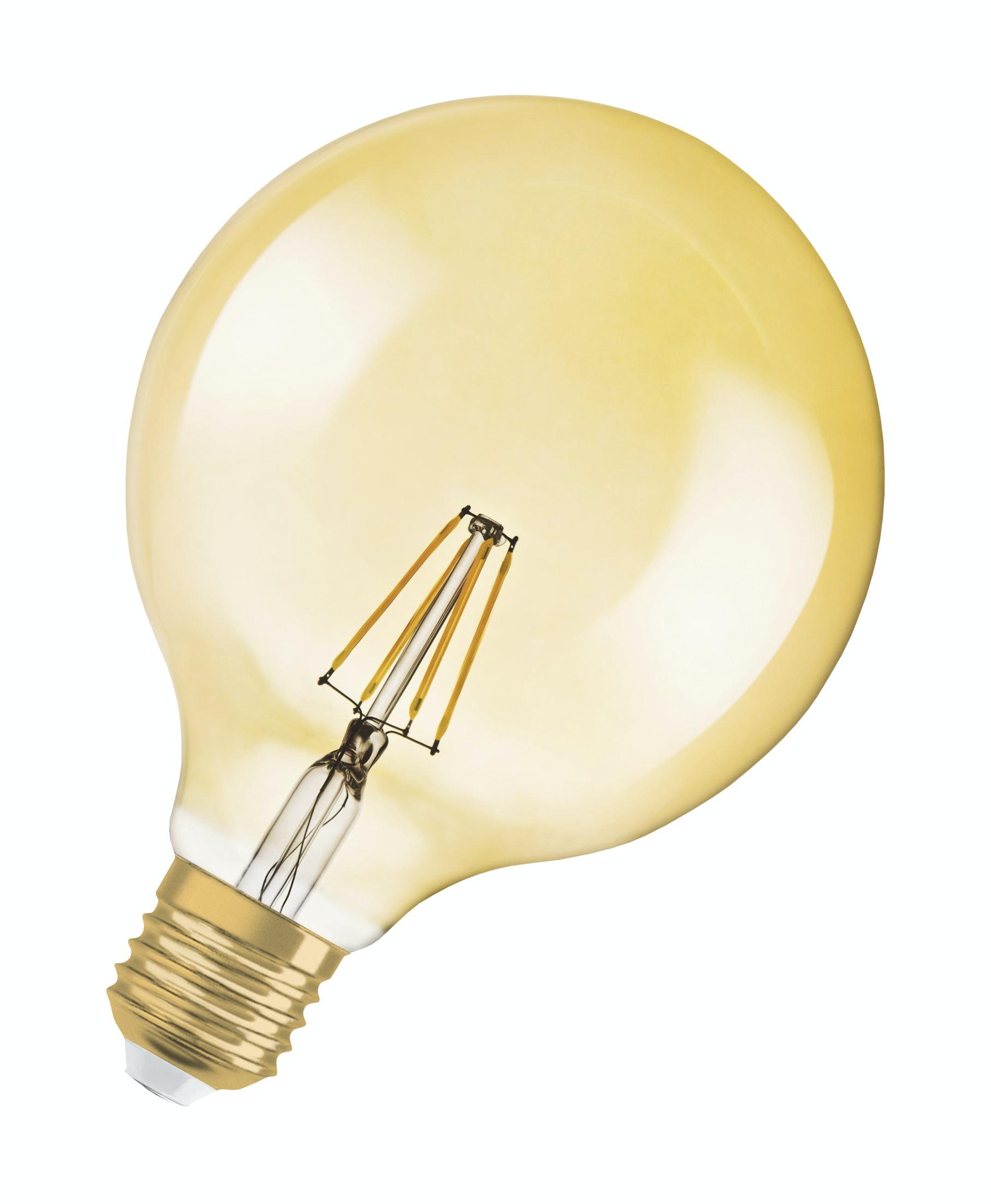 Led-lampa Osram Vintage 1906 Glob 54 710LM/827 E27 Filament Guld Dimbar