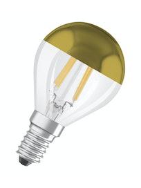 LED MAINOSLAMPPU OSRAM STAR PEILI KULTAINEN 420LM 827 E14