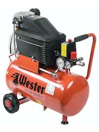 Компрессор поршневой масляный Wester LE 024-150, 24 л + Пневмонабор STG-10