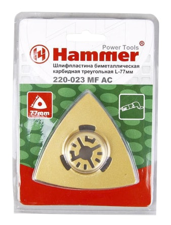 Шлифпластина для МФИ Hammer, 77 мм