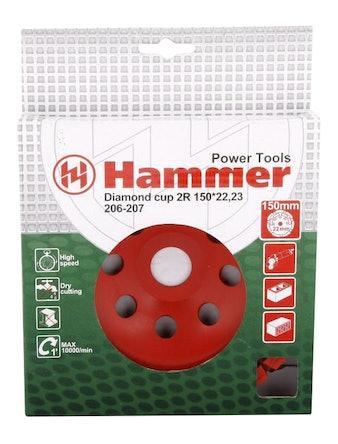 Двуррядная чашка алмазная Hammer, 150 x 22 мм