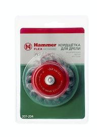 Кордщетка для дрели чашеобразная Hammer, 75 мм, D6
