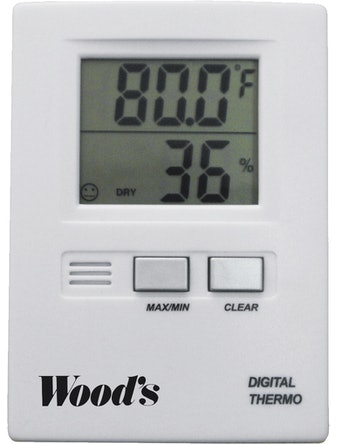 Termohygrometer Woods Vit 84X61X20mm