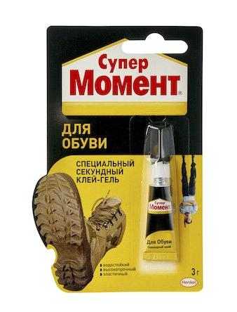 Клей Супер МОМЕНТ для обуви 3 гр блистер